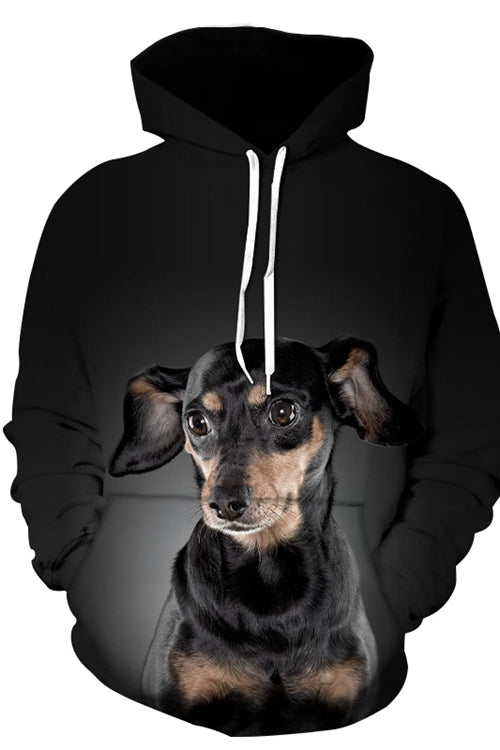 3D Graphic Hoodies  Animals Dogs Doberman Pinscher