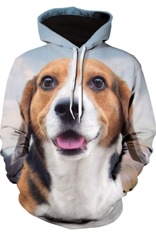 Unisex 3D Graphic Hoodies Sweatshirts Animals Dogs Beagle Smile