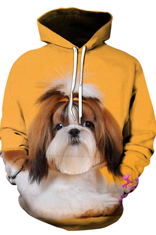 3D Graphic Hoodies Animals Dogs Lovely Shih Tzu