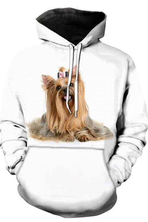 3D Graphic Hoodies Animals Dogs Shih Tzu Smile