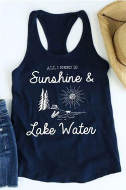 Sunshine & Lake Water Tank Top
