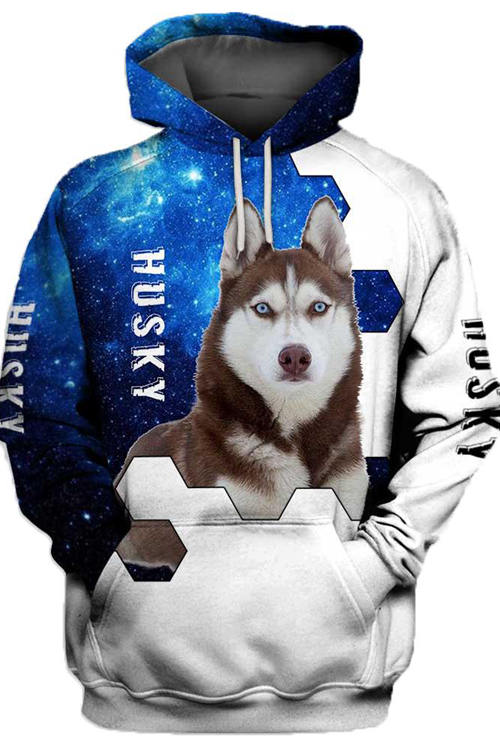 3D Graphic Hoodies Animals Dogs Husky