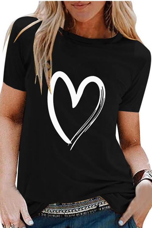Love  Printed Cotton T-Shirt