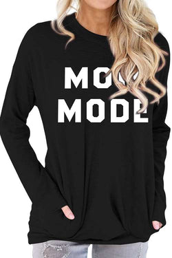 MOM MODE Printed Long Sleeve Shirt