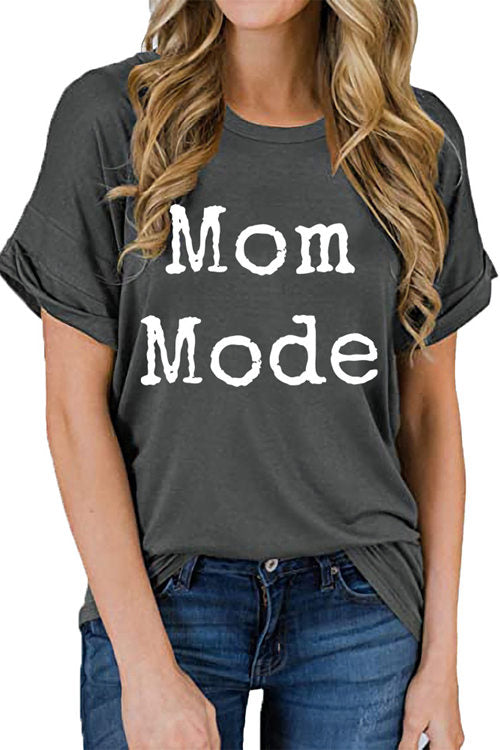 Letter Printed MOM MODE T-Shirt