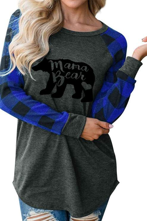 Mama Bear Printed T-shirt