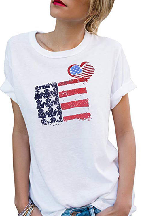 Star Flag Printed T-Shirt
