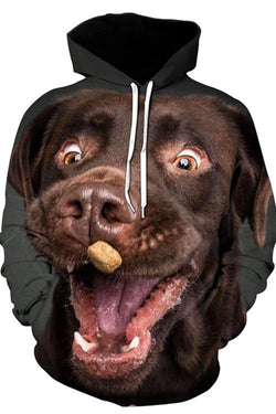 3D Graphic Hoodies Animals Dogs Labrador Retriever Brown