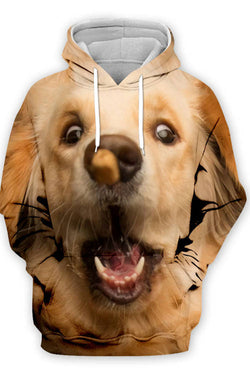 3D Graphic Hoodies  Animals Dogs Golden Retriever Play