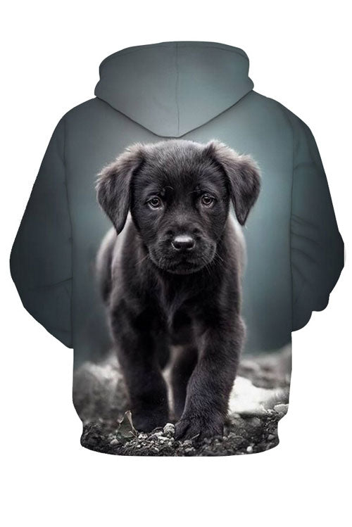 Unisex 3D Graphic Hoodies  Animals Dogs Labrador Retriever Black