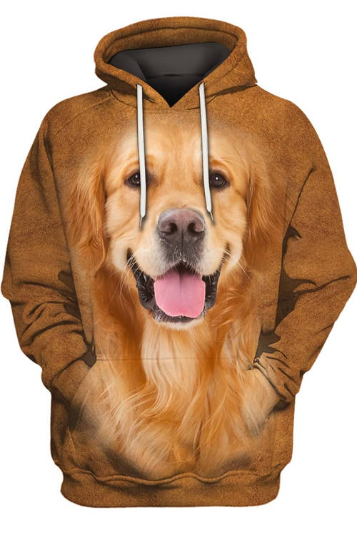 Unisex 3D Graphic Hoodies  Animals Dogs Golden Retriever Hairy