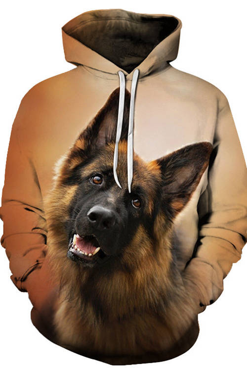Graphic Hoodies  Animals Dogs German Shepherd Dog Shake Head