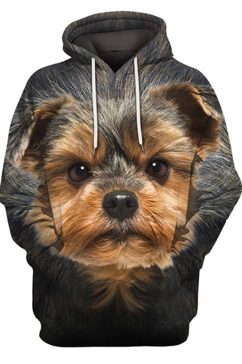 Graphic Hoodies Animals Dogs Yorkshire Terrier