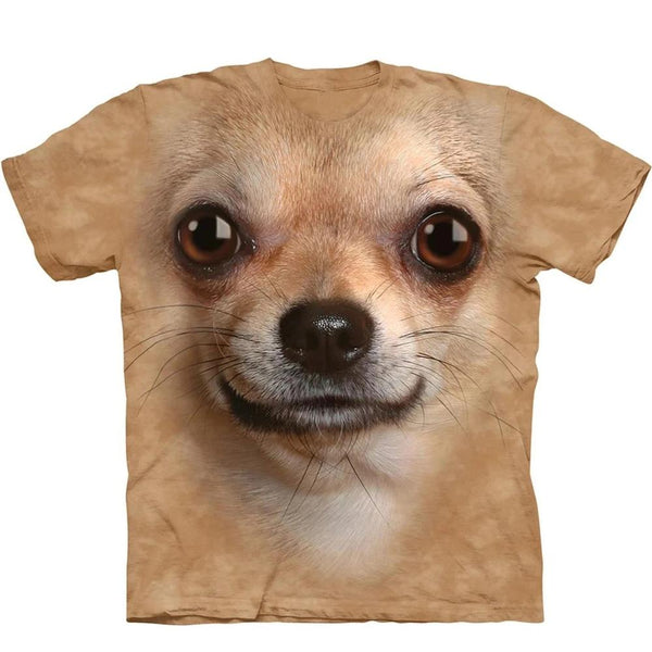 Adult Unisex 3D Short Sleeve T-Shirt Chihuahua Face