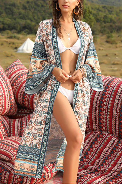 Beach Sun-Protective Loose Long Sleeve Cover Up