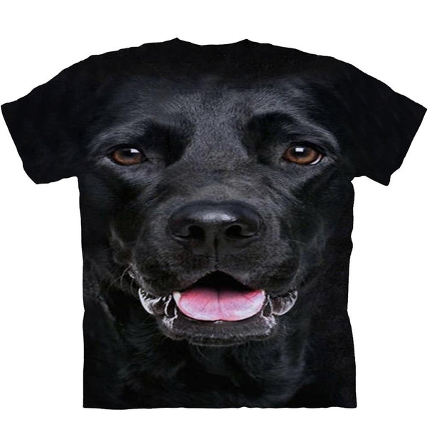 Adult Unisex 3D Short Sleeve T-Shirt Black Labrador Retriever