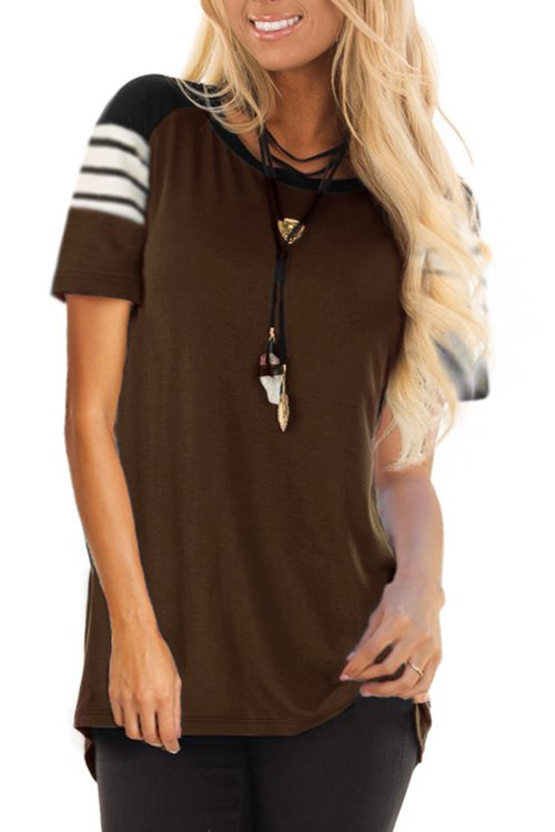 Striped O-Neck Baseball T-Shirt