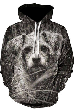 3D Graphic Hoodies Loose Sweatshirts Animals Dogs