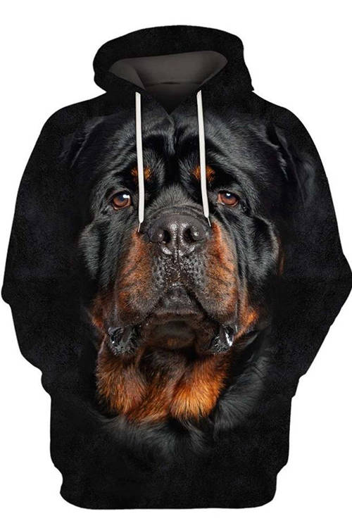 Unisex 3D Graphic Hoodies  Animals Dogs Rottweiler Reflection