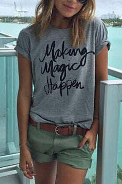 Make Magic Happen Short Sleeve T-Shirts