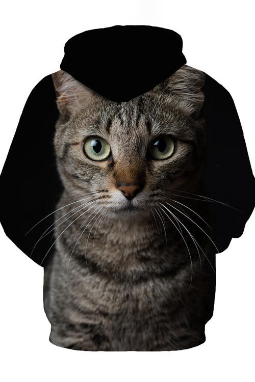 Unisex 3D Graphic Hoodies Sweatshirts Animals Cats American Shorthair Dark