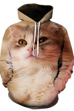 Unisex 3D Graphic Hoodies  Animals Cats Wide