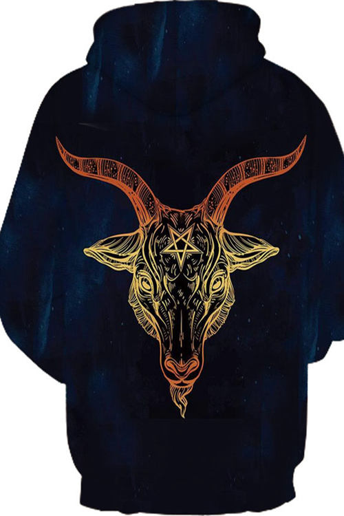 3D five pointed star magic sheep Hoodie