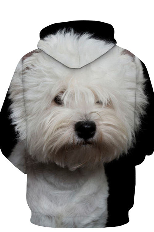 Printed Dog Pocket Hoodie