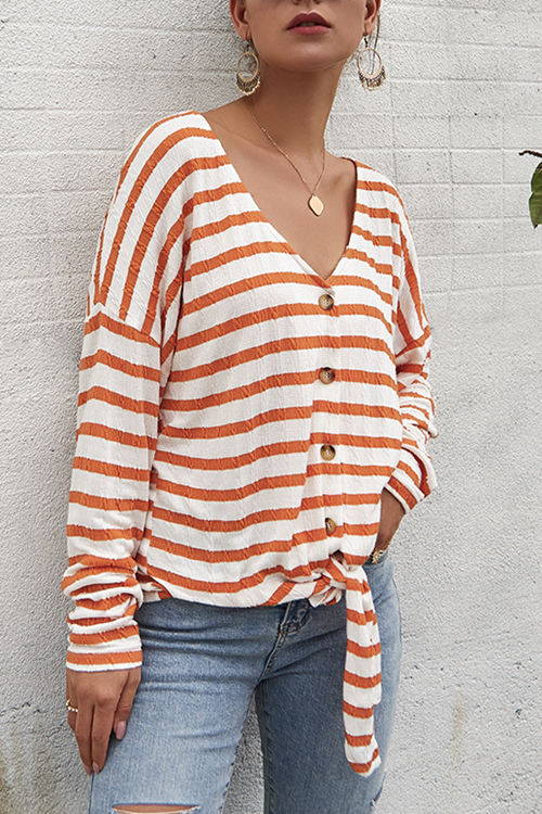 Striped T-Shirt Sweater
