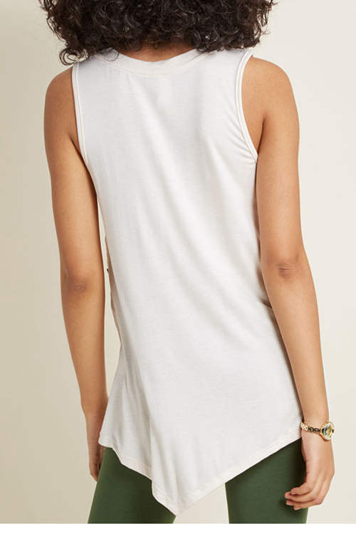 Irregularly Buttoned Tank Top