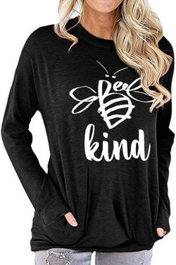 Letter Long-Sleeve T-Shirt