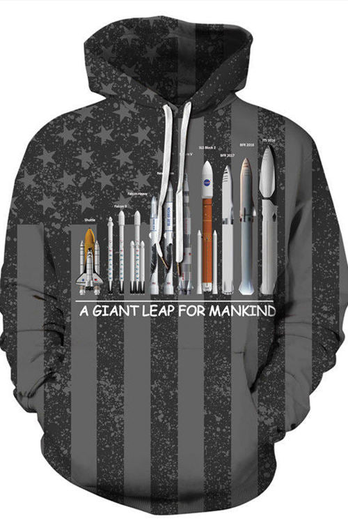 3D Digital Printing A GIANT LEAP FOR MANKIND Hoodie