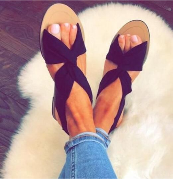 Cross Strap With Open Toe Sandal