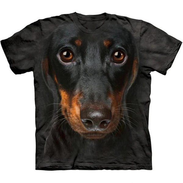 Adult Unisex 3D Short Sleeve T-Shirt Dachshund Face