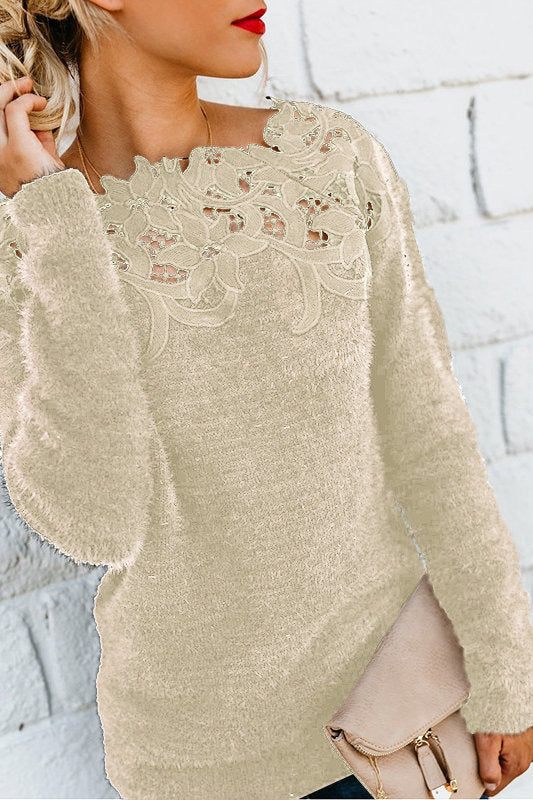 Long Sleeve Off-Shoulder Sweater