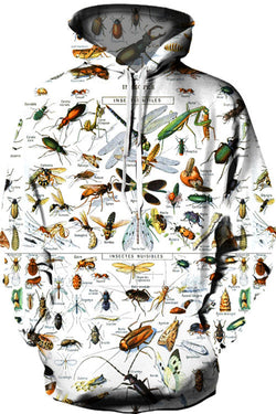 3D Digital Printing Insect  Encyclopedia Hoodie
