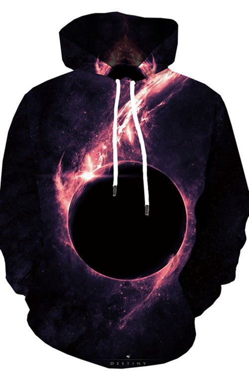3D digital print Star shadow of light Hoodie