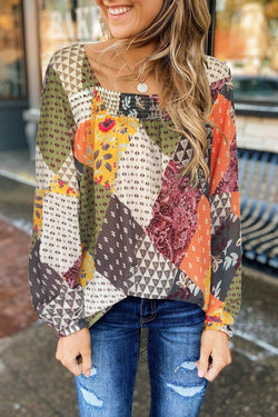 Printed Multicolor Blouse