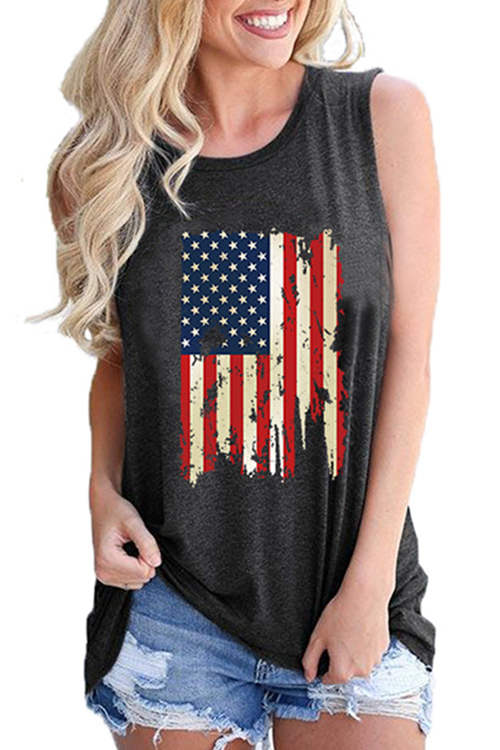 Flag Independence Day Tank Top