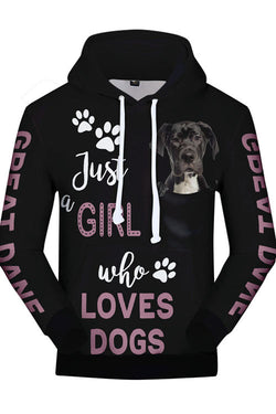 3D Graphic Hoodies  Animals Dogs Great Dane