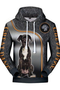 3D Graphic Hoodies  Animals Dogs Sitting Great Dane