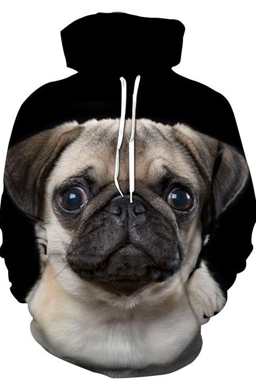 Unisex 3D Graphic Hoodies  Animals Dogs Pugs