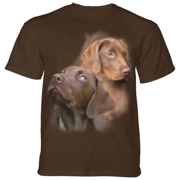 Adult Unisex 3D Short Sleeve T-Shirt Chocolate Labs