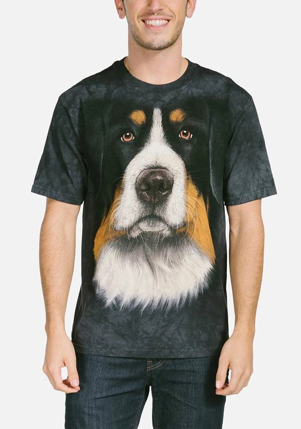 Adult Unisex 3D Short Sleeve T-Shirt Bernese Mountain Dog Face