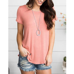 Round Neck Loose-Fitting T-Shirt