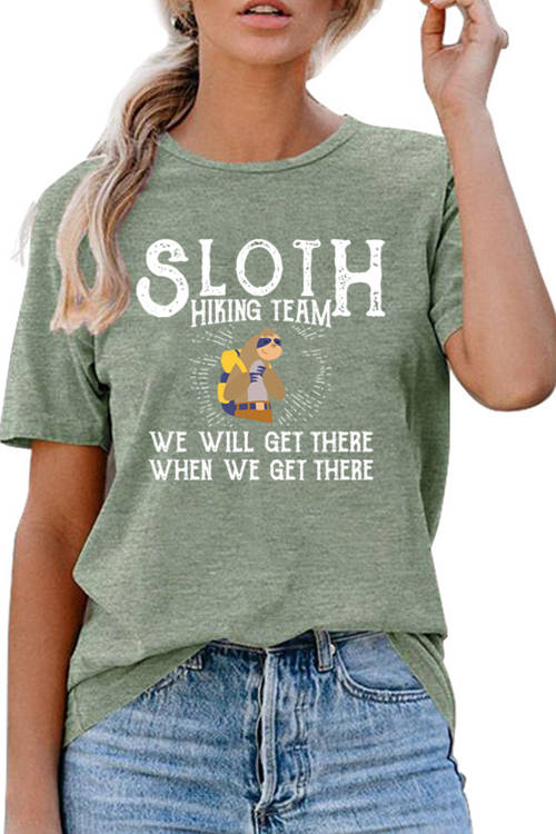 SLOTH HIKING TEAM Sloth Print T-Shirt