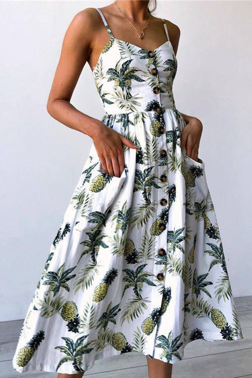 Sunflower Floral Dress