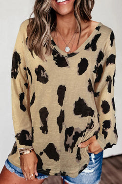 Loose Long Sleeve Printed T-Shirt