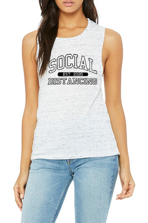 Monogrammed Sleeveless Tank Top