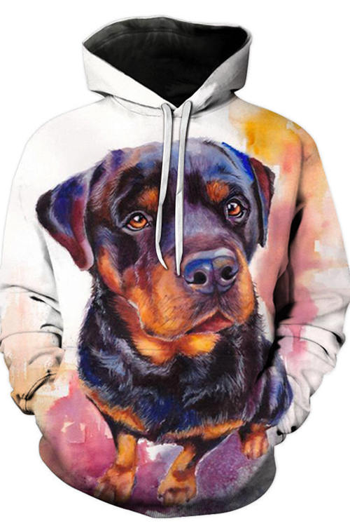 3D Graphic Hoodies Sweatshirts Animals Dog Art Colorful